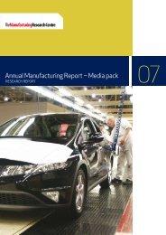 Annual Manufacturing Report – Media pack - The Manufacturer.com