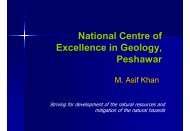 National Centre of Excellence in Geology, Peshawar