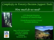 Complexity in Forestry Decision Support Tools ... - Faculty of Forestry