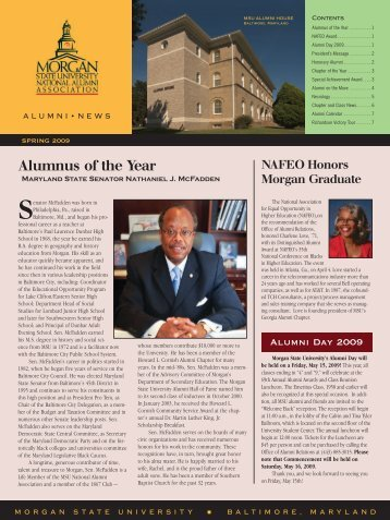 Alumnus of the Year - MSUNAA - Home Page - Morgan State ...