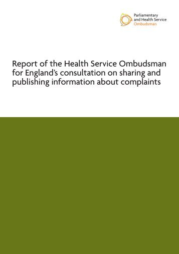 PHSO Report - Sharing info consultation - April 10.pdf - the ...