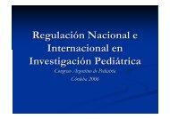 Regulación Nacional e Internacional en Investigación Pediátrica