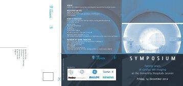 Symposium Program (PDF) - ESR - Congress Calendar
