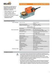 Fiche technique Servomoteur de clapet NM24A 010 F - Belimo