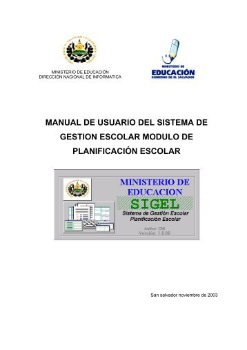 manual de usuario del sistema de gestion escolar modulo de ...