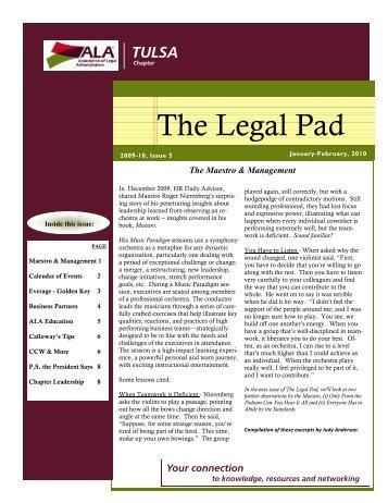 February (2009 – 2010) Issue 5 - ALA Tulsa