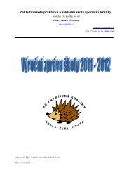 Výroční zpráva 2011 - Základní škola praktická a základní škola ...