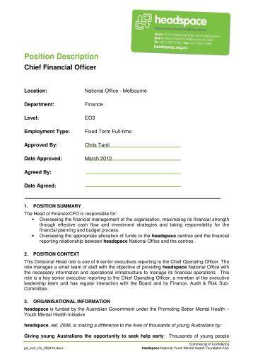 chief financial officer job description