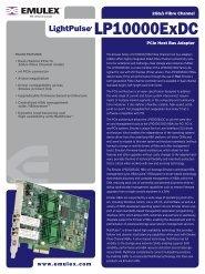 Emulex LP10000ExDC Data Sheet - SANDirect.com