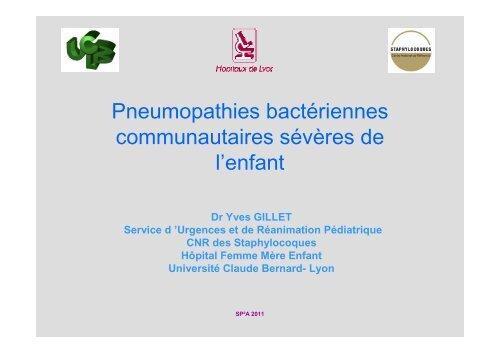 Infections bactériennes sévères du poumon