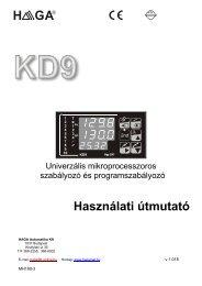 Teljes használati útmutató - C+D Automatika Kft.