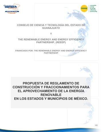 propuesta de reglamento de construcción y ... - REEEP Toolkits