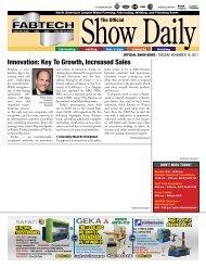 OFFICIAL SHOW NEWS - Fabtech