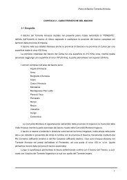 Capitolo 2 - Caratteristiche del territorio - Piani di Bacino - Provincia ...