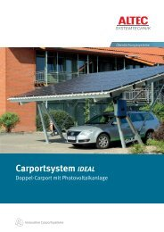 Flyer SolarCarport Ideal - ALTEC Solartechnik