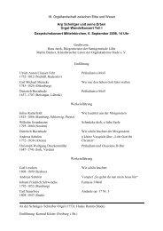 18. Orgellandschaft zwischen Elbe und Weser Arp Schnitger und ...