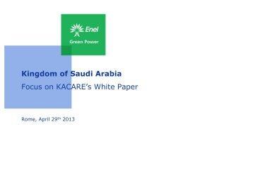 Kingdom of Saudi Arabia - Corrente