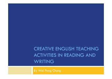 creative english teaching activities in reading and writing