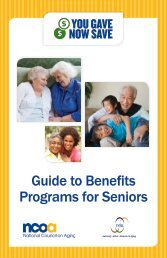 You Gave, Now Save - A Guide to Benefits Programs for Seniors - n4a