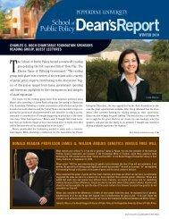 Read the Winter 2010 Dean's Report. - Pepperdine University ...