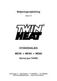 Betjeningsvejledning ME - 3.0 - TwinHeat
