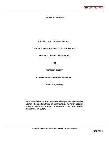 tm 32-5985-217-15 technical manual operator's, organizational