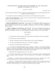 (members of the legislative assembly of meghalaya) act, 1972