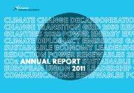 ECF 2011 Annual Report - European Climate Foundation