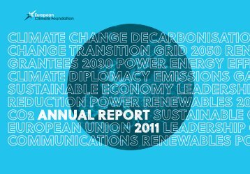 ECF 2011 Annual Report - European Climate Foundation
