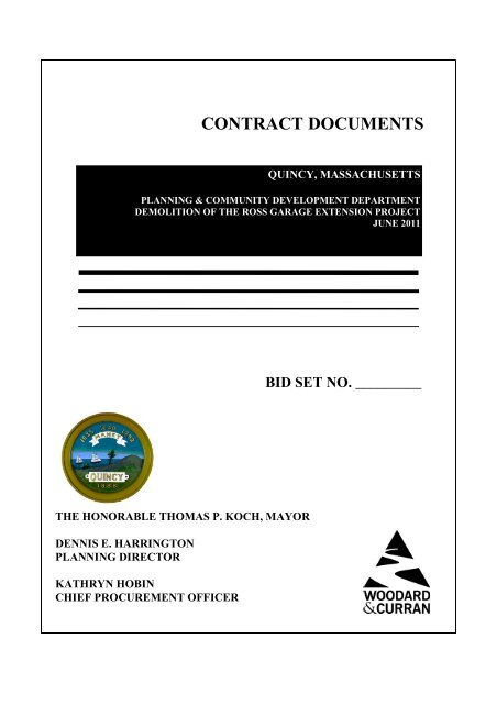 CONTRACT DOCUMENTS - City of Quincy