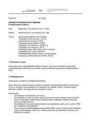 MUISTIO 19.5.2004 OPINNÄYTETÖIDEN KEHITTÄMINEN ... - Oamk