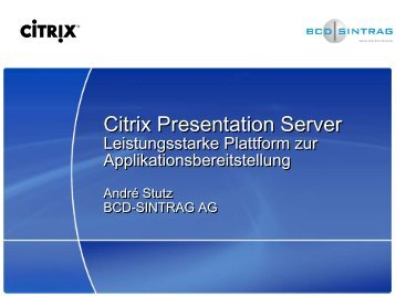 Citrix Presentation Server - Digicomp