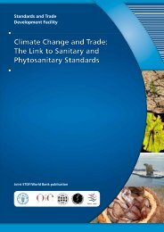 Climate Change and Trade - Standards and Trade Development ...