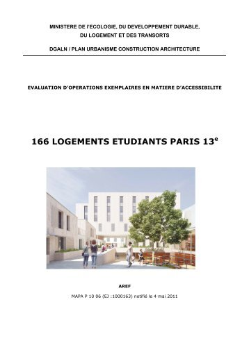 166 LOGEMENTS ETUDIANTS PARIS 13e - Urbamet