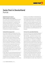 Swiss Post in Deutschland Porträt