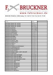 Getränke Sortiment komplett - FX Bruckner