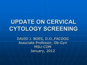 CERVICAL CYTOLOGY SCREENING