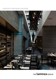 HOSPITALITY AND RETAIL SOLUTIONS - The Laminex Group