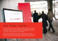 Swiss Finance Institute is a private foundation created in 2006 by ...
