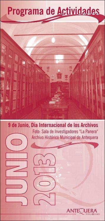 06 - programacion JUNIO 2013.CDR - Ayuntamiento de Antequera