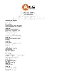CALENDARIO FESTIVAL Eventi e proiezioni Domenica 17 maggio ...