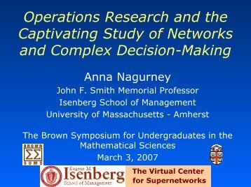Operations Research and the Captivating Study of Networks