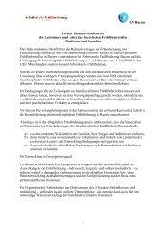 Positionen und Postulate - Arbeitsstelle Frühförderung Bayern