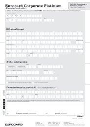 Ansøgning - Firmahæftende - Eurocard