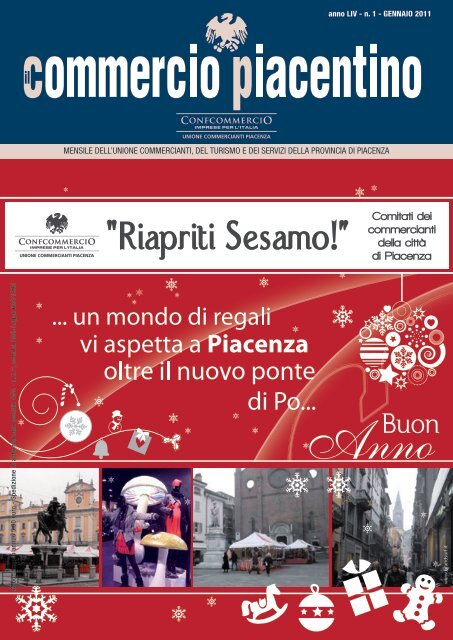 anno LIV - n. 1 - GENNAIO 2011 - Unione Commercianti di Piacenza