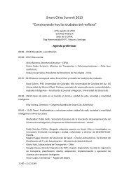 Agenda Smart Cities Summit 2013 V 07 08 2013 - Asociación ...