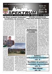 Číslo 45 - Mesto Stropkov