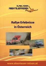 Rallye Erlebnisse in Österreich - Abenteuer Reise in Österreich