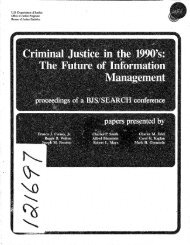 Criminal Justice in the 1990's: The Future of Information Management