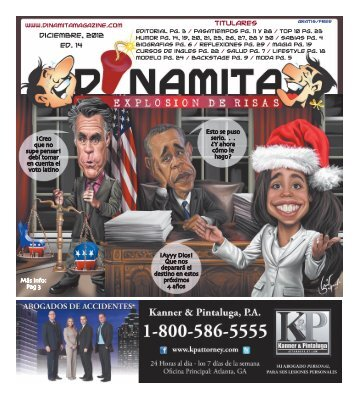 Diciembre, 2012 Ed. 14 Titulares - Dinamita Magazine